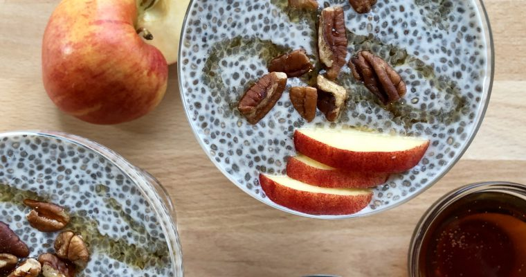 Overnight Maple Pecan Chia Pudding