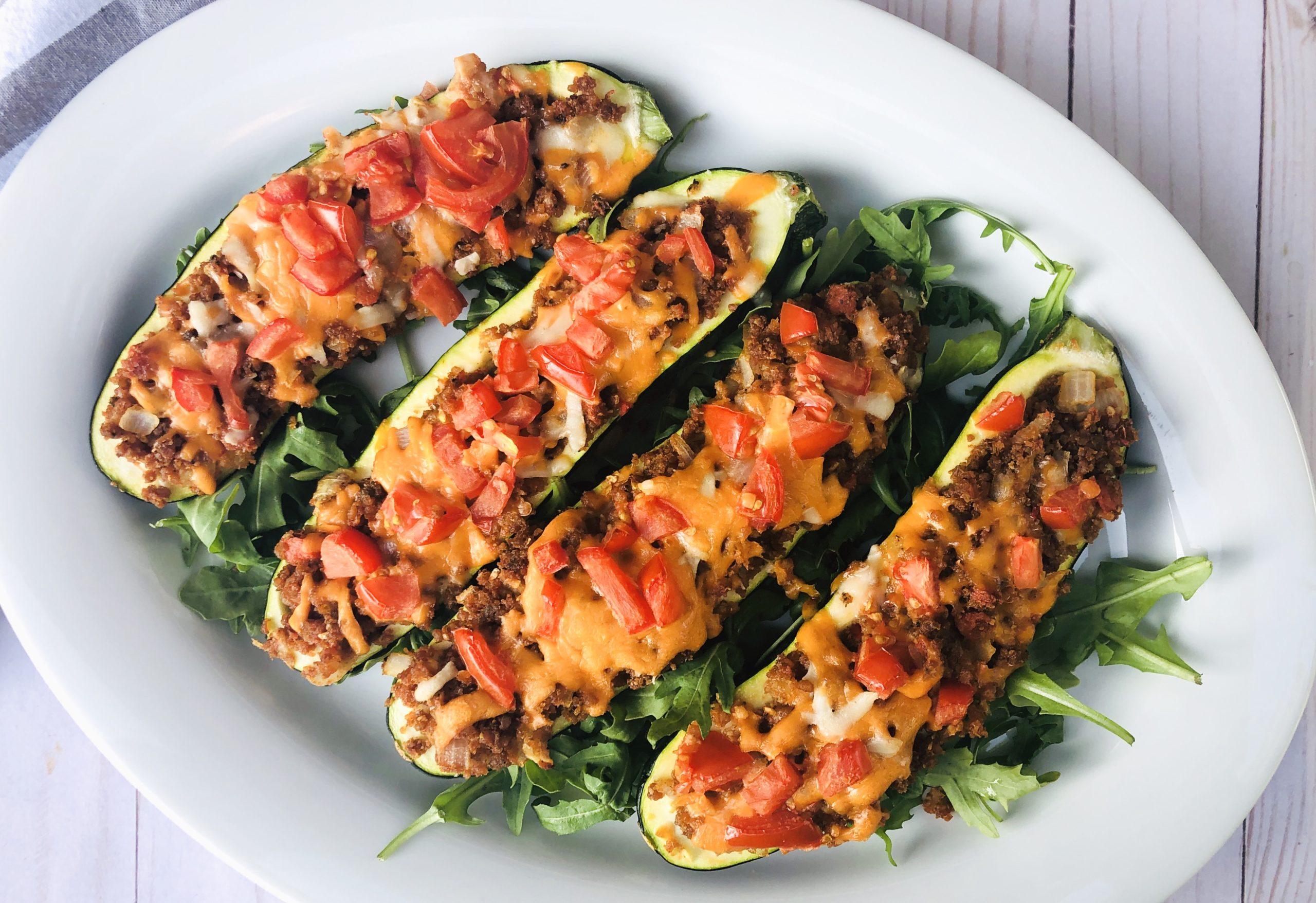 Veggie Stuffed Zucchini Boats