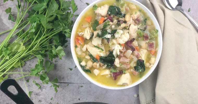 Hearty Chicken and Navy Bean Soup