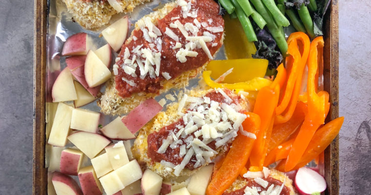 Chicken Parmesan Sheet Pan Dinner