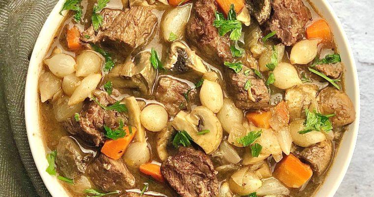 Slow Cooker Beef Bourguignon